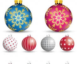 decorative tree balls vector vector graphics