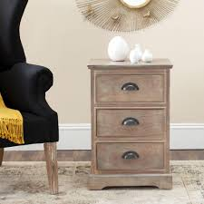 Safavieh Furniture Outlet Store Safavieh Raven Distressed Cream Storage End Table Amh5703c The