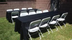 table and chair rental el segundo party rentals table chair rentals big blue sky