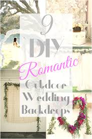 wedding backdrops diy diy outdoor wedding backdrops candydirect