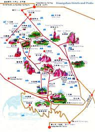 Suzhou China Map by Mt Huangshan Travel Maps Yellow Mountain Hiking Map