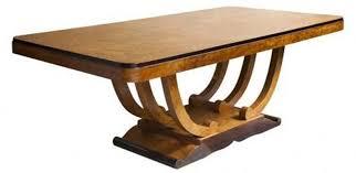 French Art Deco Burlwood U Base Dining Table For Ten Modernism - Art dining room furniture