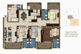 house plans with separate apartment 2300 sqft 4 bhk apartment house plan with separate servant room