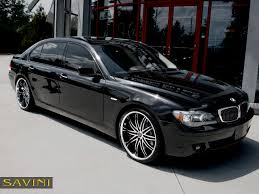 bmw black 7 series savini wheels