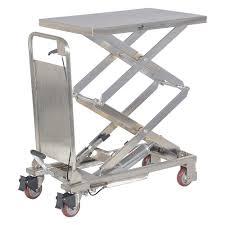grainger approved scissor lift cart 220 lb ss fixed 2tkx8 cart