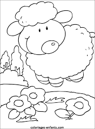 coloriage danimaux  dessin de mouton à colorier  Animaux de la
