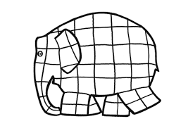 elmer colouring pages funycoloring