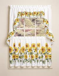 Sunflower Valance Curtains Sunflower Design Kitchen Curtain Sunflower I Pinterest