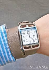 pre owned hermes cape cod watch ref cc2 710 cresus