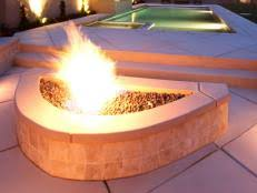 How To Build A Propane Fire Pit Table by How To Build A Gas Fire Pit Hgtv