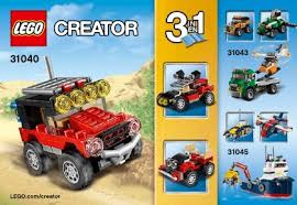 jeep instructions desert racers instructions 31040 creator