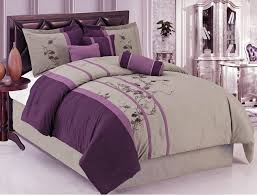Black And Purple Comforter Sets Queen Bedroom Purple Comforter Sets Purple Comforter Set Dark