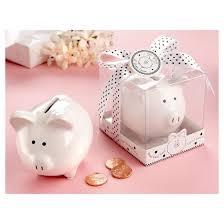 piggy bank party favors 12ct li l saver favor ceramic mini piggy bank in gift box with