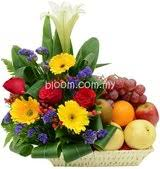 flowers and fruits flowers fruits gifts and chocolate for new born baby get well