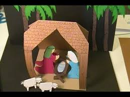 How To Make A Christmas Card Online - easy to make paper nativity scene youtube