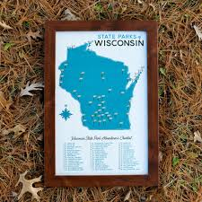 Kohler Wisconsin Map by Wisconsin State Parks Map 11x17
