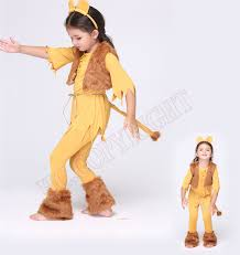 funny cartoon lion king cosplay costumes halloween gift kids fancy