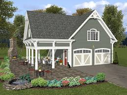 garage loft plans two car plan covered porch design building