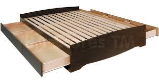 prepac fremont platform storage bed bookcase headboard espre