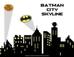 superhero skyline backdrop superhero cityscape clipart superhero