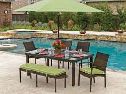 wicker dining table with glass top havana resin wicker 6 pc dining set with 72 x 42 rectangular