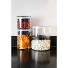 airscape kitchen canister airscape 64 oz glass food storage canister with lid ag 07 the