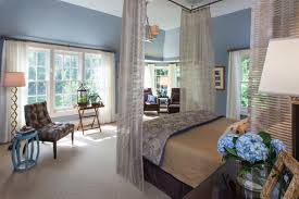 Blue Master Bedroom by Master Bedroom Soft Blue Master Suite With Tufted Leather Chair