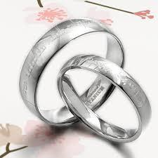 matching titanium wedding bands handmade groom lord of ring elvish matching wedding