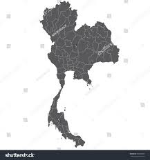 Thailand Blank Map by High Detailed Vector Map Thailand Stock Vector 560028895