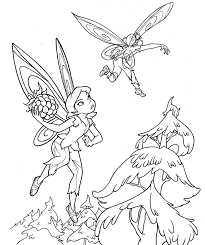 tinkerbell friends coloring pages print coloring