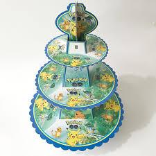 tier cake stand pikachu 3 tier cake stand baby shower supplies kids