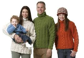 sweater for family free aran patterns for in stitches