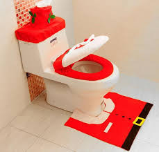 Christmas Bathroom Rugs Christmas Bathroom Decoration Happy Santa Toilet Seat Cover And