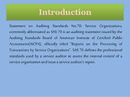 Sas 70 Report Exle by It Grc