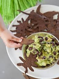 creepy crawly chips and swampy guacamole recipe hgtv