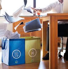 recyclage papier de bureau publicite objet com développement durable