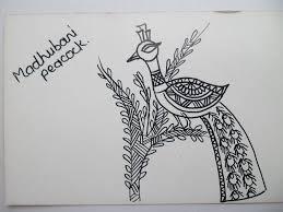 madhubani painting peacock youtube