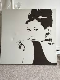 Ikea Paintings by Ikea Audrey Hepburn Canvas In Walton On Thames Surrey Gumtree
