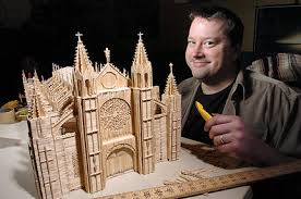 toothpick house contemporary art masterpieces of toothpicks by stan munro ideas for
