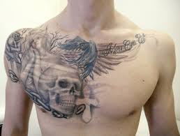 shoulder to chest tattoo 51 skull tattoos for men and women inspirationseek com
