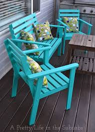 Turquoise Patio Chairs The Power Of Paint This Deck Furniture Makeover The Great