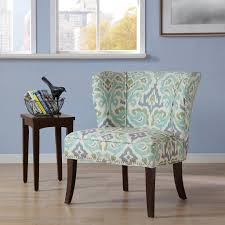 Aqua Accent Chair by Amazon Com Madison Park Hilton Armless Accent Chair Blue Green
