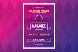 karaoke party poster template flyer templates creative market