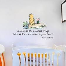 winnie the pooh bedroom winnie the pooh quote large nursery bedroom wall sticker decal mural