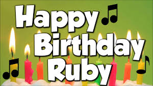 Happy Birthday Wishes In Songs Happy Birthday Ruby Wishes Cake Images Sms Quotes