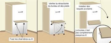 bureau escamotable intégrer un bureau à un lit escamotable