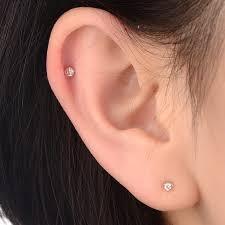 two earrings 2017 new 0 06ct diamond earrings gold 18k luxury jewelry for women