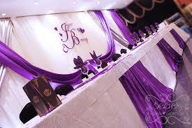 Wedding Reception Decor A Crystallized Royal Purple And Silver Wedding Reception