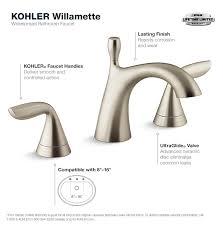 kohler willamette 8 in widespread 2 handle water saving bathroom