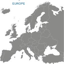 European Union Blank Map by Map Europe